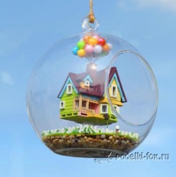 Кукольный домик в стеклянном шаре - podelki-fox.ru