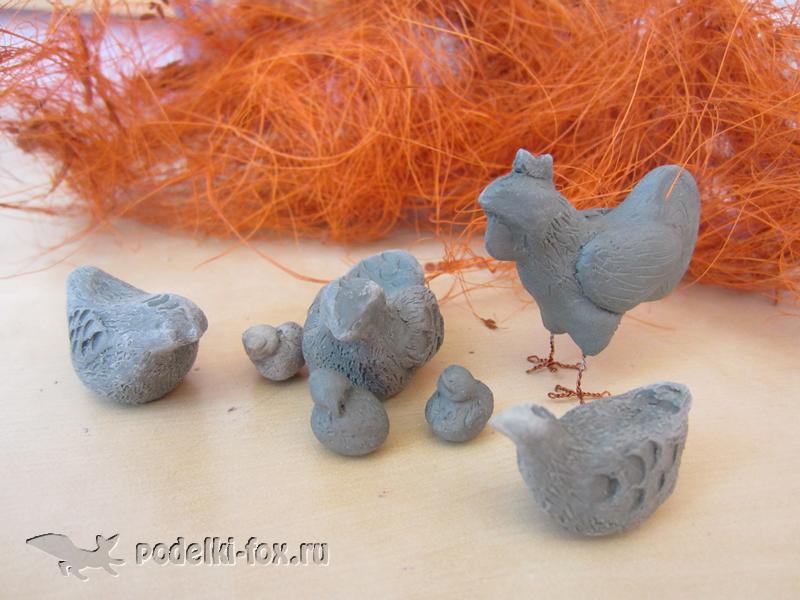 Курочки из глины