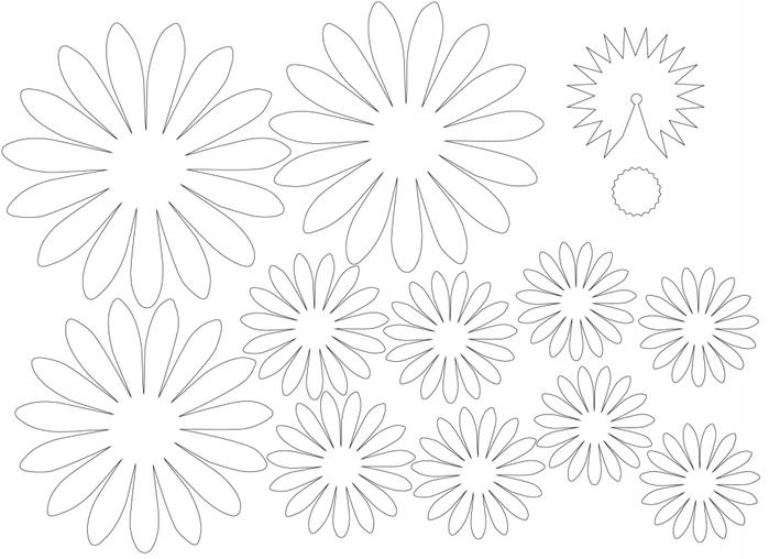 Цветы ромашка из бумаги своими руками схемы шаблоны