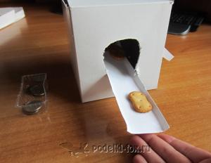 Коробочка для сладостей из бумаги