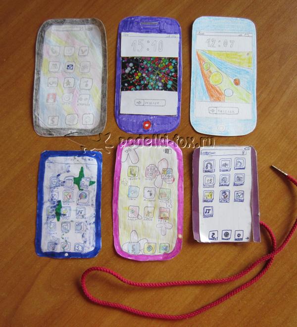 Поделка из бумаги - Мобильный телефон