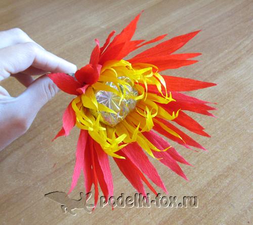 Подарок ко Дню Учителя - букет из конфет