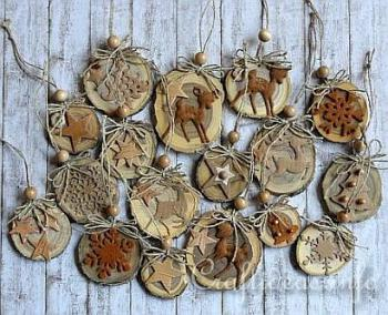 Деревянные елочные игрушки