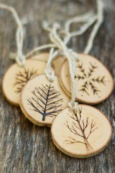 Деревянные новогодние украшения