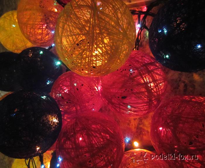 Тайские фонарики из ниток